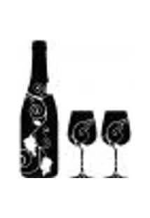 Adesivo Decorativo De Cozinha - Vinho - 009Cz-P