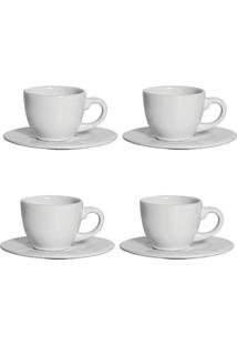 Conjunto De Xícaras De Café Scalla Em Cerâmica 4 Peças 100Ml Unica