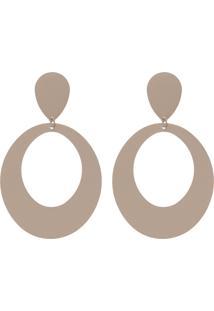 Brinco Promocao 50% Metal Geométrico Único Ilana Nude