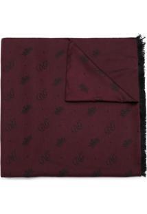Dolce & Gabbana Lenço Com Seda - Vermelho