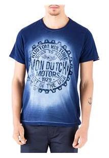 Camiseta Masculina Estampada American Standard Von Dutch