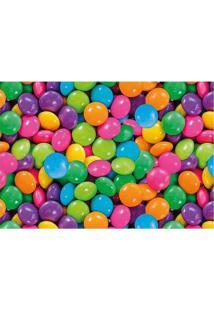 Tapete Confetes- Rosa & Azul Claro- 60X40Cm- Taptapetes Junior