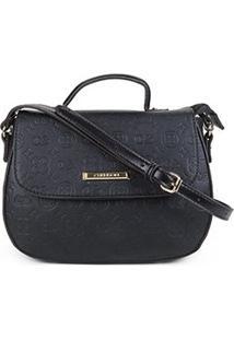 Bolsa Chenson Mini Bag Estampada Feminina - Feminino-Preto
