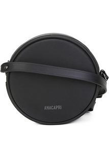 Bolsa Anacapri Mini Bag Pequena Pvc Feminina - Feminino-Preto