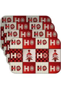 Jogo Americano - Love Decor Ho Ho Ho Kit Com 4 Peças