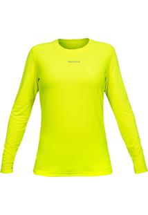 Camiseta Curtlo Active Fresh Ml - Fem. Amarelo Gg - Kanui