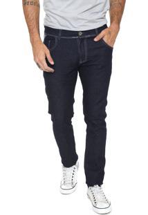 Calça Jeans Fiveblu Slim Pespontos Azul
