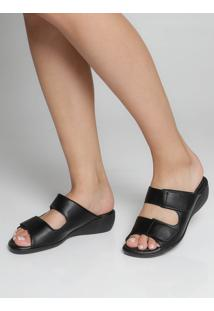 Tamanco Anabela Piccadilly Velcro