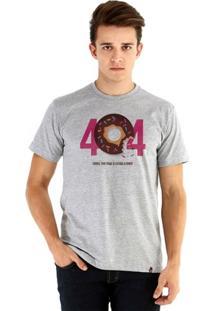 Camiseta Ouroboros Manga Curta 404 Masculina - Masculino