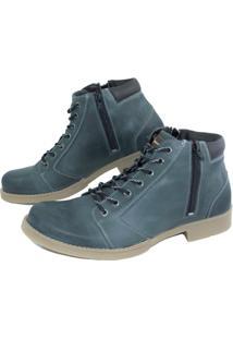 Bota Casual Ln Boots Couro 19Ma - Masculino-Marinho