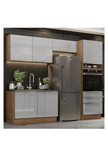 Cozinha Completa Madesa Lux 260005 Com Armário E Balcáo - Rustic/Cinza Cinza