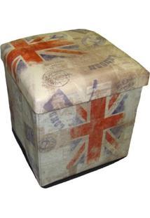 Puff Premium Organibox Porta Objetos Londres Bege