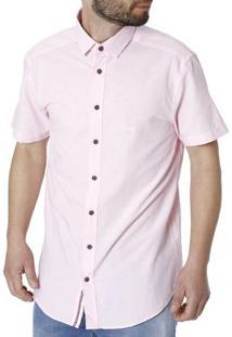 Camisa Manga Curta Masculina Rosa
