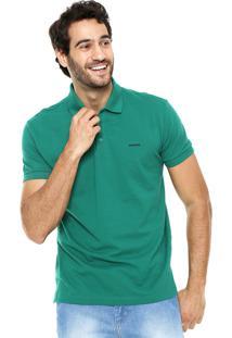 Camisa Polo Sommer Logo Verde