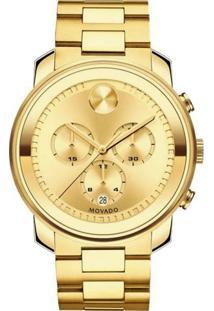Relógio Movado Masculino Aço Dourado - 3600278
