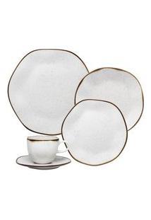Aparelho De Jantar E Chá 30 Peças Ryo Maresia Branco