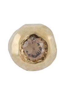 Ellis Mhairi Cameron Brinco Único Liii Mini De Ouro 14K Com Diamante - Dourado