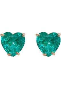 Brinco Folheado A Ouro Ania Store Hayley Verde - Feminino-Verde