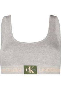 Calvin Klein Underwear Top Cropped Jersey - Cinza