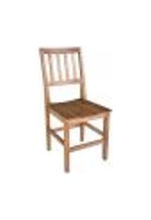Conjunto Mesa De Jantar Ripada 1,20M Com 4 Cadeiras Confort Em Madeira De Lei Maciça