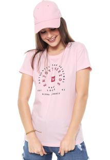 Camiseta Hang Loose Authentic Aloha Rosa