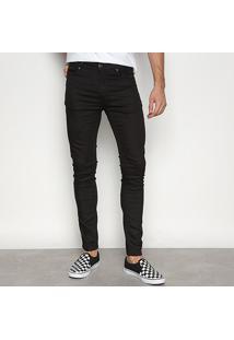 Calça Skinny Cavalera Sarja Color Masculina - Masculino-Preto