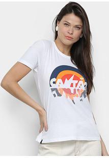 Camiseta Cantão Verão 90'S Feminina - Feminino-Off White