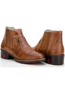Bota Capelli Boots Tatu Em Couro Com Recortes Masculina - Masculino