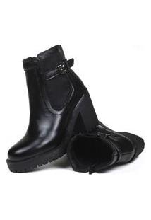 Bota Montaria Lançamento Feminina Sw Shoes Cano Médio Preta