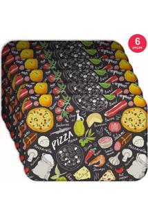 Jogo Americano Love Decor Wevans Pizza Kit Com 6 Pçs