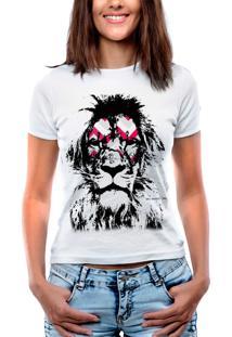 Blusa Outlet Dri T-Shirt Estampada Leão Branca