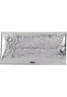 Mm6 Maison Margiela Bolsa Clutch Grande - T9002 Metallic