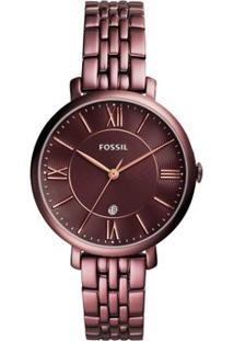 Relógio Fossil Feminino Jacqueline - Es4100/4Nn Es4100/4Nn - Feminino-Vinho