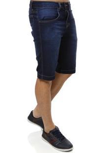 Bermuda Jeans Klug Moletom Masculina - Masculino-Jeans