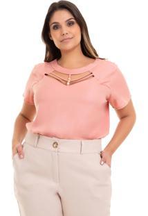 Blusa Detalhe Vazado 3 Bolinhas-50