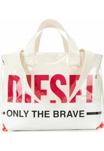 Diesel Bolsa Tote Only The Brave - Branco
