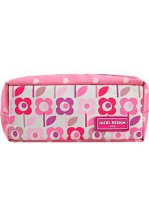Necessaire/Estojo Jacki Design - Flor Ahl17525-Fl-Rs Rosa Unico
