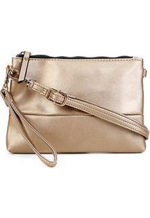 Bolsa Pagani Crossbody Mini Bag Feminina - Feminino-Dourado