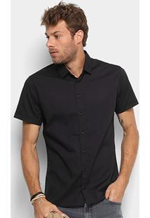 Camisa Colcci Slim Masculina - Masculino-Preto