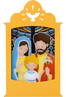 Luminária Carambola Sagrada Família Amarela