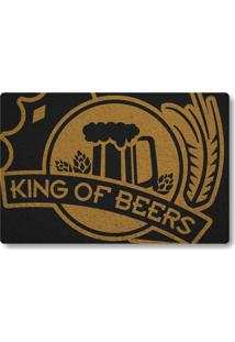 Tapete Capacho King Of Beers - Preto