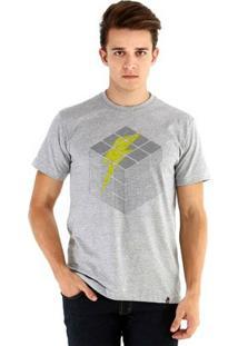 Camiseta Ouroboros Manga Curta Bolt Puzzle - Masculino-Cinza