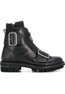 Dsquared2 Ankle Boot De Couro - Preto