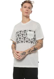 Camiseta Quiksilver Planet Of T Off-White