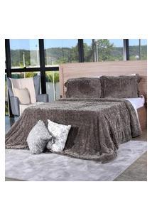 Cobertor Slim Peles Queen Com Porta Travesseiro Grime - Tessi
