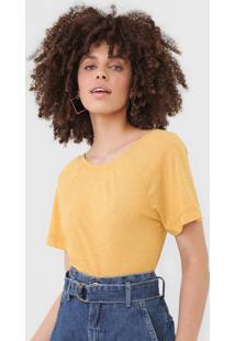 Blusa Maria Filã³ Raglan Amarela - Amarelo - Feminino - Poliã©Ster - Dafiti