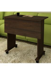 Mesa Escrivaninha Dobrável Com Rodízio Rústico Me4117 - Tecno Mobili