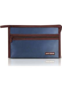 Necessaire Jacki Design Envelope - Unissex-Azul