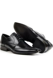 Sapato Oxford Em Couro Bigioni Classic Com Cadarço Masculino - Masculino