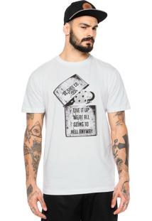 Camiseta Dc Shoes Dead Above Branca